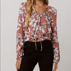 Roxy Morning Ritual Floral Copped Long Sleeve
